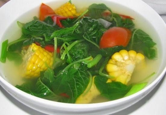 Resep Dan Cara Untuk membuat Sayur Bening Bayam Dan jagung Yang Segar